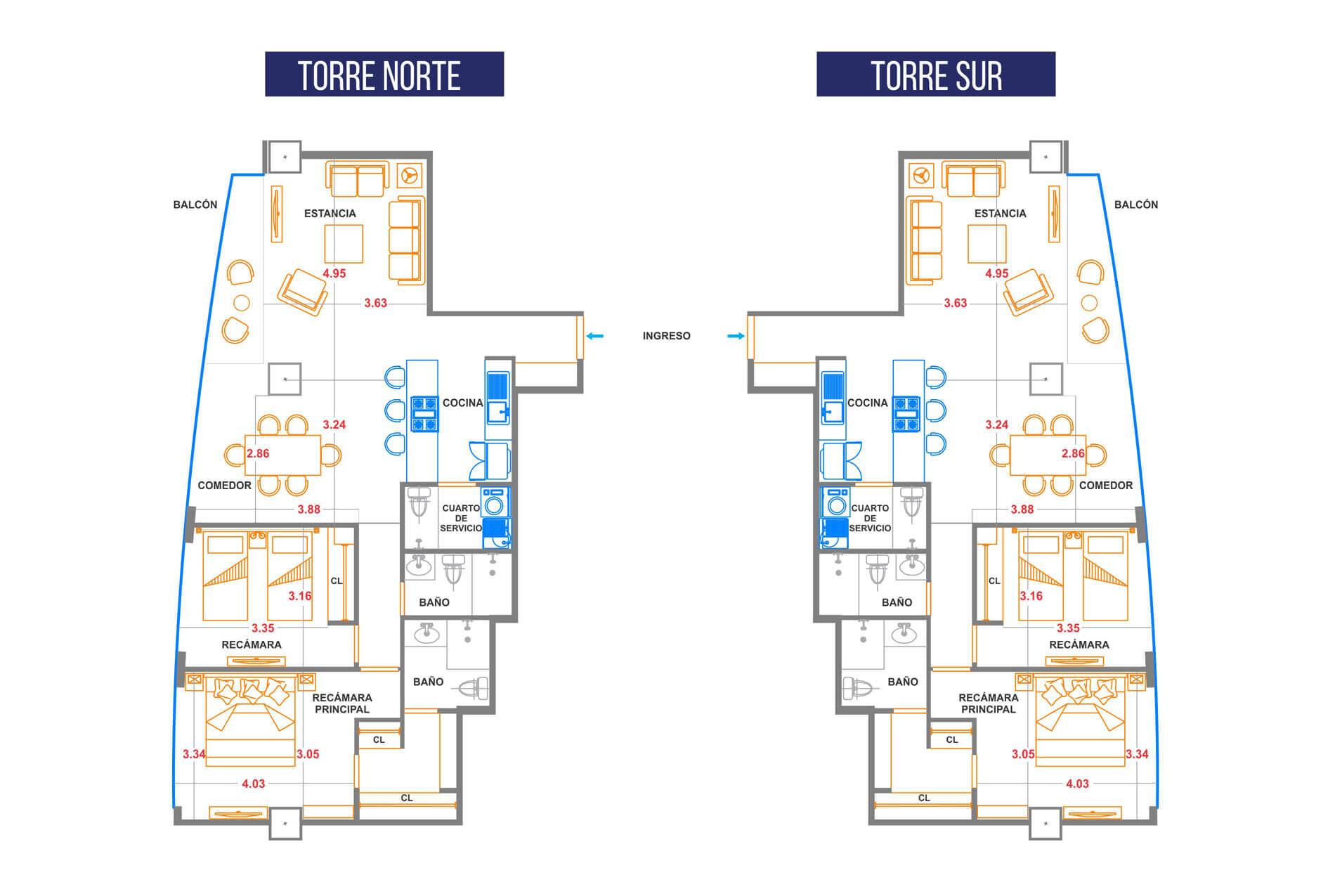 Viviendas de lujo iconia cubos luxury livingiconia cubos for Departamentos en planos